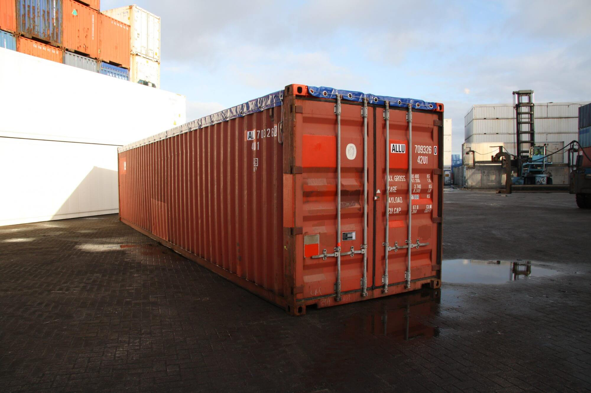 40FT Open top containers | Alconet Containers