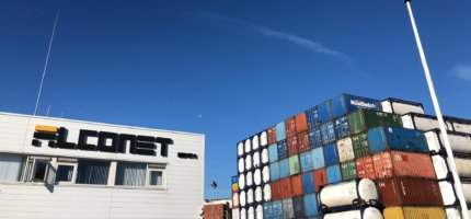 What is the weight of a shipping container?